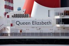 Nave da crociera della regina Elizabeth Fotografie Stock Libere da Diritti