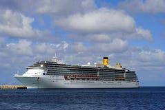 Nave da crociera di Costa Mediterranea Fotografia Stock
