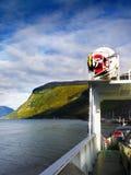 Nave da crociera magica della valle del ghiacciaio fotografia stock