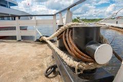 Nave da crociera messa in bacino nella porta Fotografia Stock Libera da Diritti