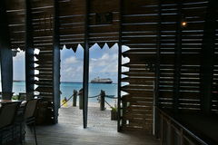 Nave da crociera nei Caraibi Fotografie Stock