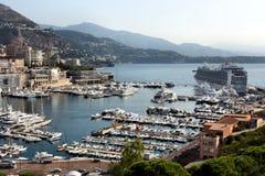 Nave da crociera in porto di Monte Carlo fotografie stock