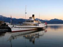 Nave da crociera sul lago Ginevra 02, Svizzera Fotografia Stock
