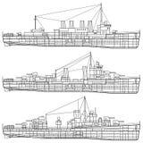 Nave da guerra royalty illustrazione gratis