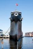 Nave da guerra del fante di marina del blu marino Fotografia Stock