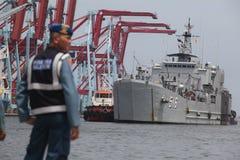 Nave da guerra dell'Indonesia Fotografie Stock
