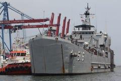 Nave da guerra dell'Indonesia Fotografia Stock Libera da Diritti