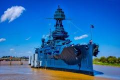 Nave da guerra il Texas Fotografia Stock