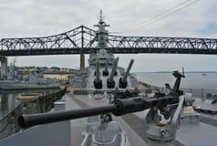 Nave da guerra Massachusetts Fotografia Stock