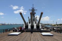 Nave da guerra Missouri del Pearl Harbor Immagine Stock