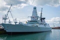 Nave da guerra reale del distruttore della marina Immagini Stock