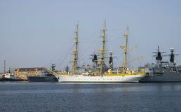 Nave de Brice Mircea Romanian Military Navy School Foto de archivo libre de regalías