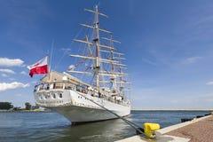 Nave de entrenamiento polaca de la vela Imagen de archivo