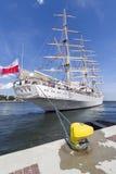 Nave de entrenamiento polaca de la vela Imágenes de archivo libres de regalías
