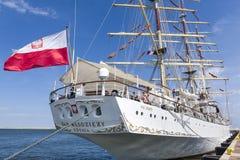 Nave de entrenamiento polaca de la vela Fotos de archivo