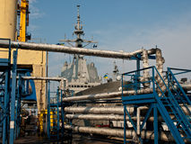 Nave de guerra en Oddesa imagen de archivo libre de regalías