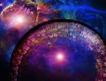 Nave de la gran ciudad en espacio profundo Imagen de archivo libre de regalías