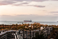 Nave de la línea de la playa foto de archivo libre de regalías