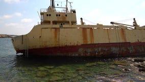 Nave de la ruina de Edro III en de Pegeia, Chipre metrajes