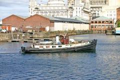Nave de Liverpool en muelle Fotos de archivo