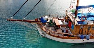 Nave de madera Fiskardo en la isla del kefalonia en Grecia Imagen de archivo