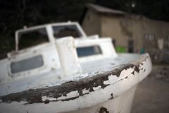 Nave de madera putrefacta vieja foto de archivo