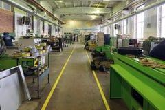 Nave de montaje para las máquinas metalúrgicas Imágenes de archivo libres de regalías