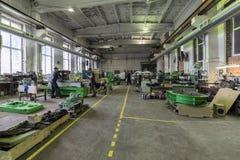 Nave de montaje para las máquinas metalúrgicas Fotografía de archivo libre de regalías