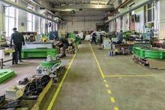 Nave de montaje para las máquinas metalúrgicas Fotografía de archivo