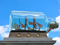 Nave de Nelson en una botella Imagen de archivo libre de regalías