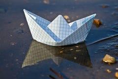 Nave de papel Foto de archivo