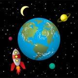 Nave de Rocket en espacio Fotografía de archivo