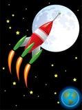 Nave de Rocket en espacio Fotos de archivo libres de regalías