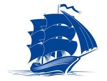 Nave del Brigantine illustrazione vettoriale
