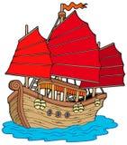 Nave del cinese illustrazione vettoriale