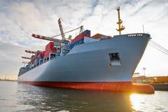 Nave del container del carico Fotografie Stock