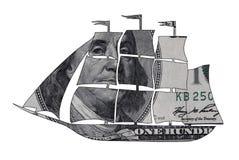 Nave del dollaro Fotografia Stock