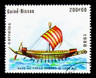 Nave del faraone Ramses III, serie delle navi, circa 1988 Immagini Stock Libere da Diritti