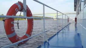 Nave del fiume di salvagente stock footage