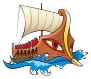 Nave del greco antico, Argo illustrazione vettoriale