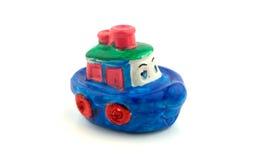 Nave del juguete en blanco Imagen de archivo