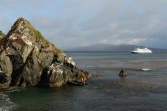Nave del ruise del ¡ di Ð via australe vicino a Capo Horn Il Sudamerica fotografie stock libere da diritti