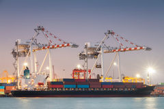 Nave del trasporto del carico del contenitore Fotografia Stock