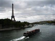 Nave del trasporto sul fiume Immagine Stock