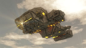 Nave del UFO del extranjero Imagen de archivo libre de regalías