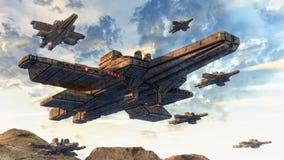 Nave del UFO dello straniero illustrazione vettoriale