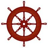nave del volante de madera Fotografía de archivo libre de regalías