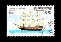 Nave del XVIII secolo immagine stock
