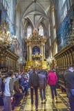 Nave della cattedrale di Wawel a Cracovia Fotografie Stock Libere da Diritti