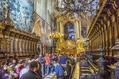 Nave della cattedrale di Wawel a Cracovia Fotografie Stock